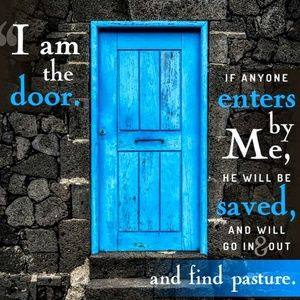 Pillow Cover-New-Christian - I AM the Door
